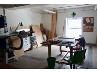 Fully kitted out maker's studio/workshop available for sub-let