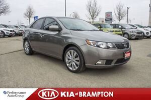 2011 Kia Forte SX|LEATHER|SUNROOF|BLUETOOTH|ALLOYS|KEYLESS