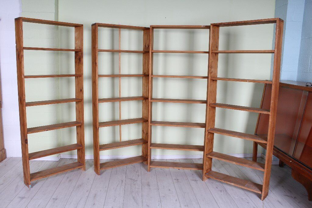DELIVERY OPTIONS - 4 X MATCHING SOLID PINE SHELVES RUSTIC WITH MARKS £60 EACH