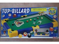 """Childrens Top-Billard Table. 37"""" x 20"""". Brand NEW. Suitable for ages 4+. Snooker Pool."""