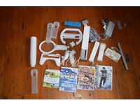 Wii Console, Controllers, Acessories and Games