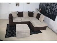 **guareented PRICE!!**- Byron Jumbo Cord Corner Sofa Suite - SAME/NEXT DAY DELIVERY
