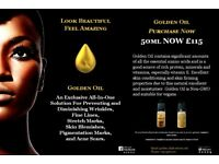 GOLDEN OIL 50ML, DIMINISHES WRINKLES, FINE LINES, BLEMISHES, STRETCH MARKS AND PIGMENTATION MARKS