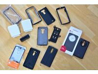 Job Lot of 11 LG G3 cases and two LG WCD-100 wireless chargers - inc Spigen, LG Flip Case, Verus etc