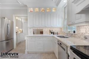 Custom Kitchens, Cabinet Refacing and Quartz Countertops