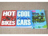 Children's reading books and information - bikes cars