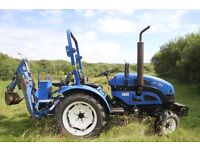Landlegend 254 25hp 4x4 compact tractor with a back hoe low hours great condition
