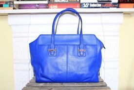 Coach Taylor Alexis Carryall Leather Bag Royal Blue Designer Shoulder