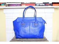 Coach Taylor Alexis Carryall Leather Bag Royal Blue Designer Shoulder