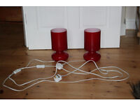 modern bed side lamp - 2x - in perfect condition
