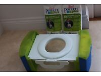 Cool Gear Portable Potty & nearly 60 potty liners