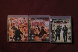 ps3 playstation games bundles: tom clancy's rainbow six vegas 1 & 2, conflict denied ops