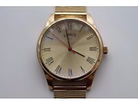 LIMIT oversize gold tone watch NEW