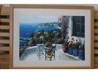 4 Oak Framed Prints of scenes from Majorca