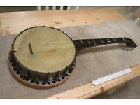Vintage pre 1920s T Bostock Banjo short scale