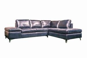 Blue Leather Sectional on Sale Hamilton (HA-58)