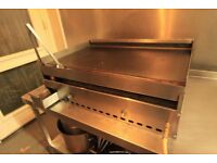 Commercial stainless steel Flat plate griddle grill 2.5 ft wide cooking plate