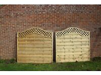 2 x Wickes Bristol Fence Panel 6ft x 6ft