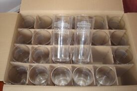 PINT GLASSES BRAND NEW BOX OF 24 FOR ONLY £8.