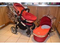 iCandy peach travel system tomato red