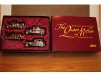 HUGE REDUCTION IN PRICE – WERE £30 NOW SELLING FOR £16 SET 4 QUEEN MOTHER LLEDO COMMEMORATIVE CARS