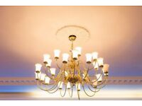 Antique Style Chandeliers Large, Small, Ceiling and Walls (Brass)