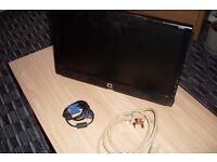 Monitor, Compaq, Computer. 18.5 Inch
