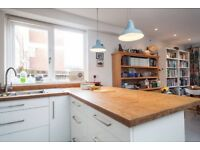 Disassembled Ikea kitchen units & bamboo worktop ready for collection, London E2