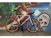 SALE ! GOKU cycles Steel Frame Single speed road bike TRACK bike fixed gear bike racing bike U