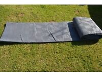 Large Grey Breathable Awning Camping Groundsheet + Carry Case - 6.1M x 2.5M
