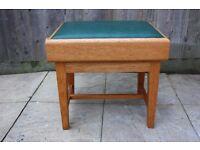 Solid wood adjustable piano stool