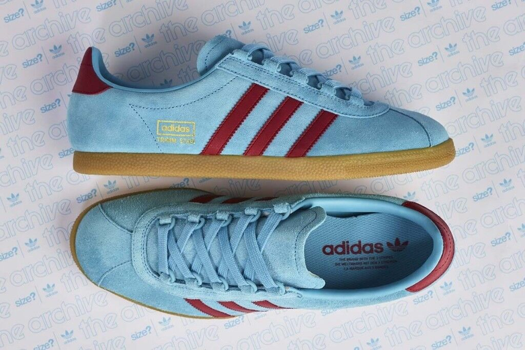 best service fac42 dfc07 Adidas Originals Trimm Star Size  Exclusive Claret (Maroon) Blue - UK 9  CONFIRMED