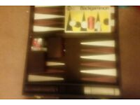 First Edition old backgammon board game in case all parts are in it