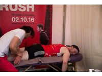 Volunteer sports massage therapist required for Team Shelter at Hackney Half