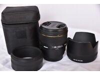 Sigma EX 85mm f/1.4 HSM DG Lens canon fit