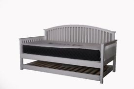 EX DISPLAY - White wooden day bed