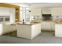7 Piece Kitchen Units - Cream Gloss Handle-less - BRAND NEW