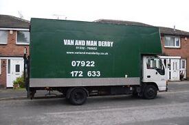 Home Removals. Van and Man. East Midlands. Derbyshire, Nottinghampshire & Staffordshire.