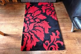 red and black rugs