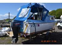 stewart stevens cabin cruiser fishing boat