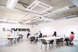 Real creative desk spaces / private office, no fake version. Haggerston creative vibe.