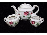 China Teapot, Milk Jug & Sugar Pot (from a teaset)