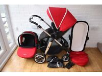 Silver Cross Pioneer travel system pram with car seat 3 in 1 - Red CAN POST