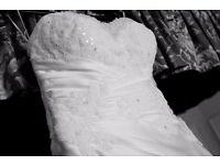 Satin Veromia Wedding Dress Size 12/14