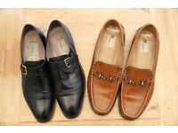 Russell & Bromley (Moreschi) shoes - 2 pairs Brown(9.5) and Black (10)
