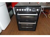 HOTPOINT CERAMIC ELECTRIC COOKER 60 CM DOUBLE OVEN LIKE NEW