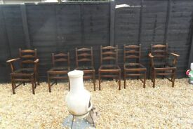 ercol high back chairs 2 carvers 1 childs chair 3 adult chairs/pick up from gosport,no delivery