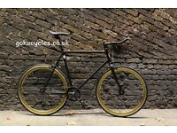 Special Offer GOKU CYCLES Steel Frame Single speed road bike TRACK bike fixed gear fixie bike w2