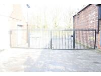Wrought iron heavy duty security gates, ideal for business/retail park