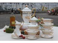 Vintage Fine Bone China Tea and Coffee Set 15 Pieces